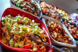 Buffet de salade du Chalet de Caron