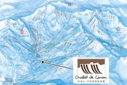 Plan des pistes - Chalet de Caron